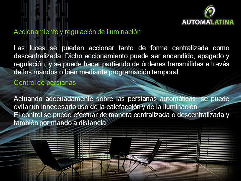 Accionamiento y regulación de iluminación
