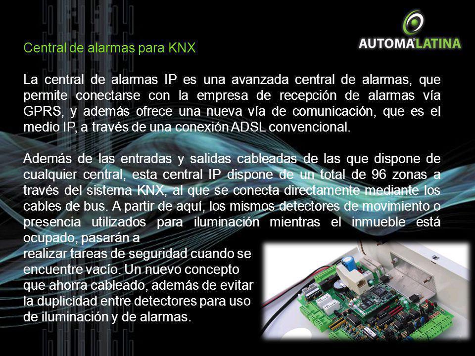 Central de alarmas para KNX