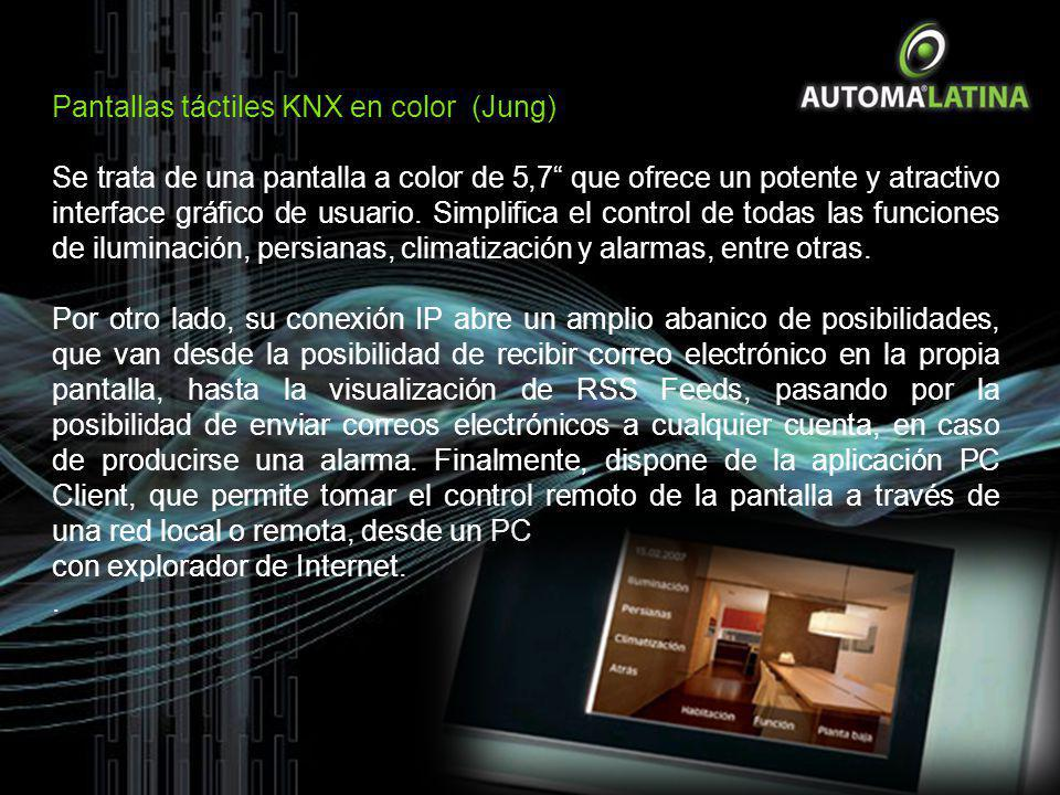 Pantallas táctiles KNX en color (Jung)