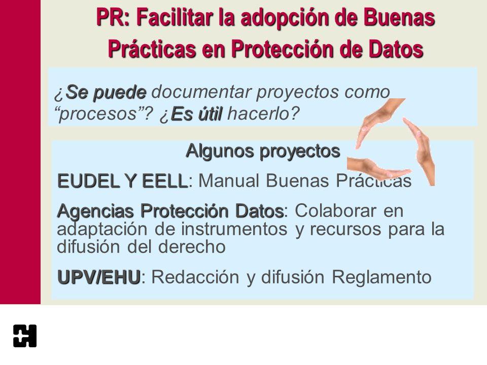 PR: Facilitar la adopción de Buenas Prácticas en Protección de Datos