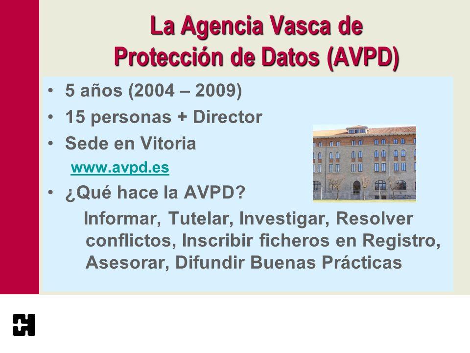 La Agencia Vasca de Protección de Datos (AVPD)