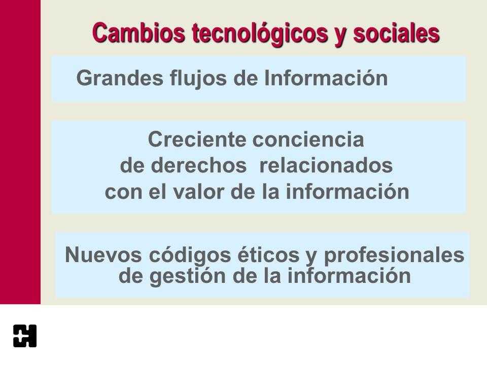 Cambios tecnológicos y sociales
