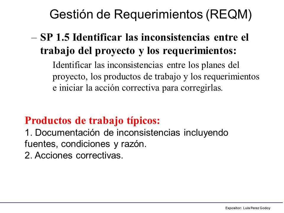 Gestión de Requerimientos (REQM)