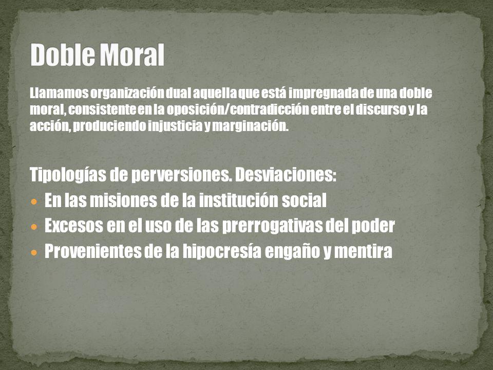 Doble Moral Tipologías de perversiones. Desviaciones: