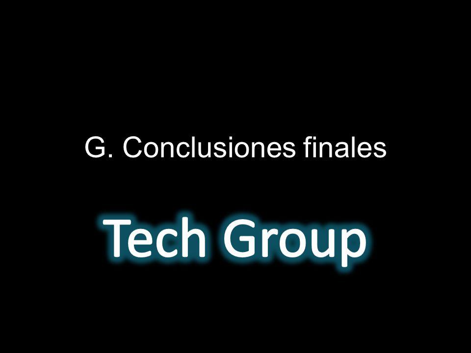 G. Conclusiones finales