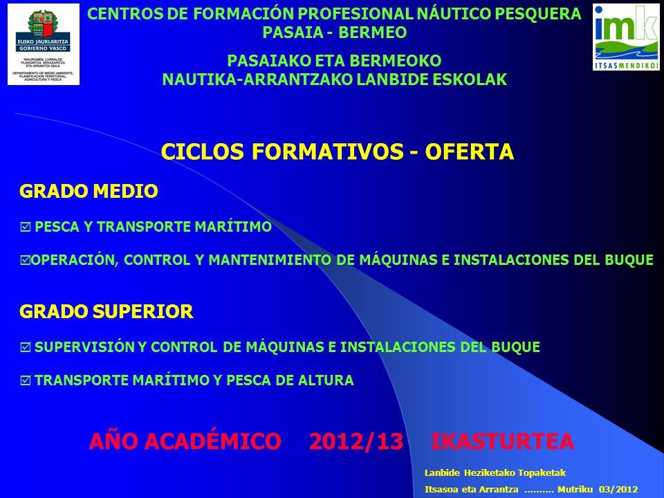 CICLOS FORMATIVOS - OFERTA