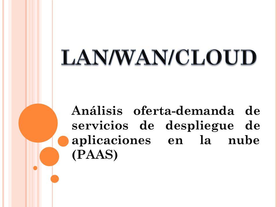 LAN/WAN/CLOUD Análisis oferta-demanda de servicios de despliegue de aplicaciones en la nube (PAAS)