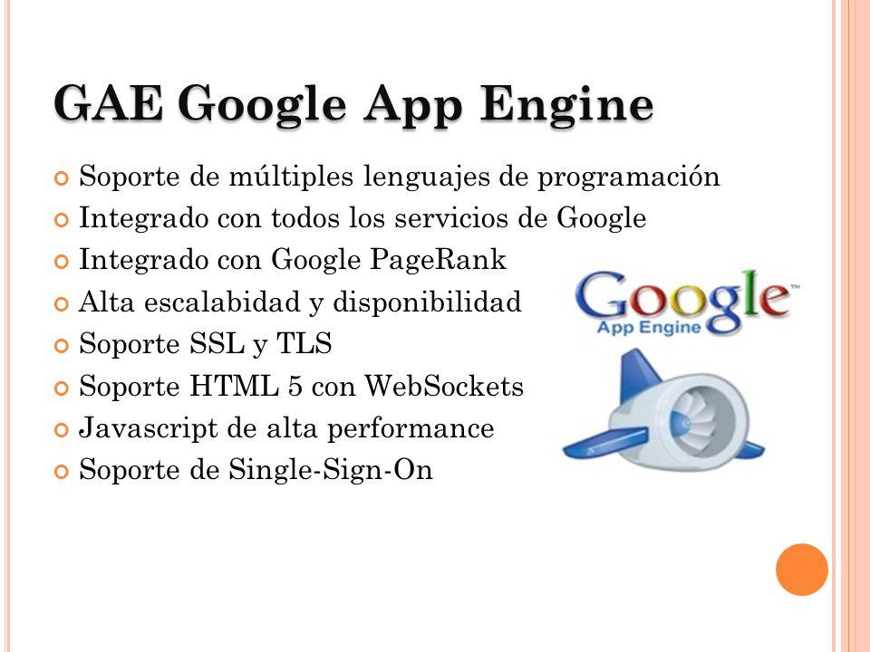 GAE Google App Engine Soporte de múltiples lenguajes de programación