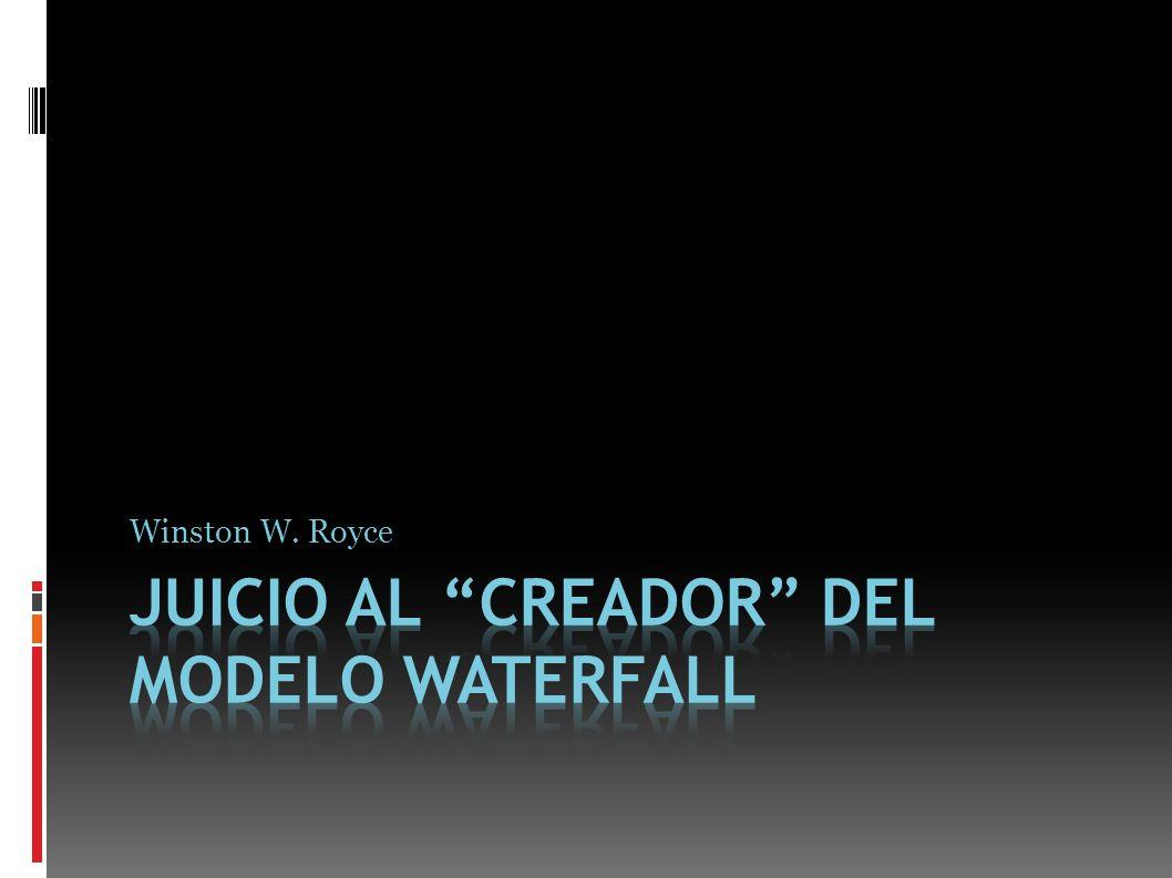 Juicio al creador del modelo waterfall