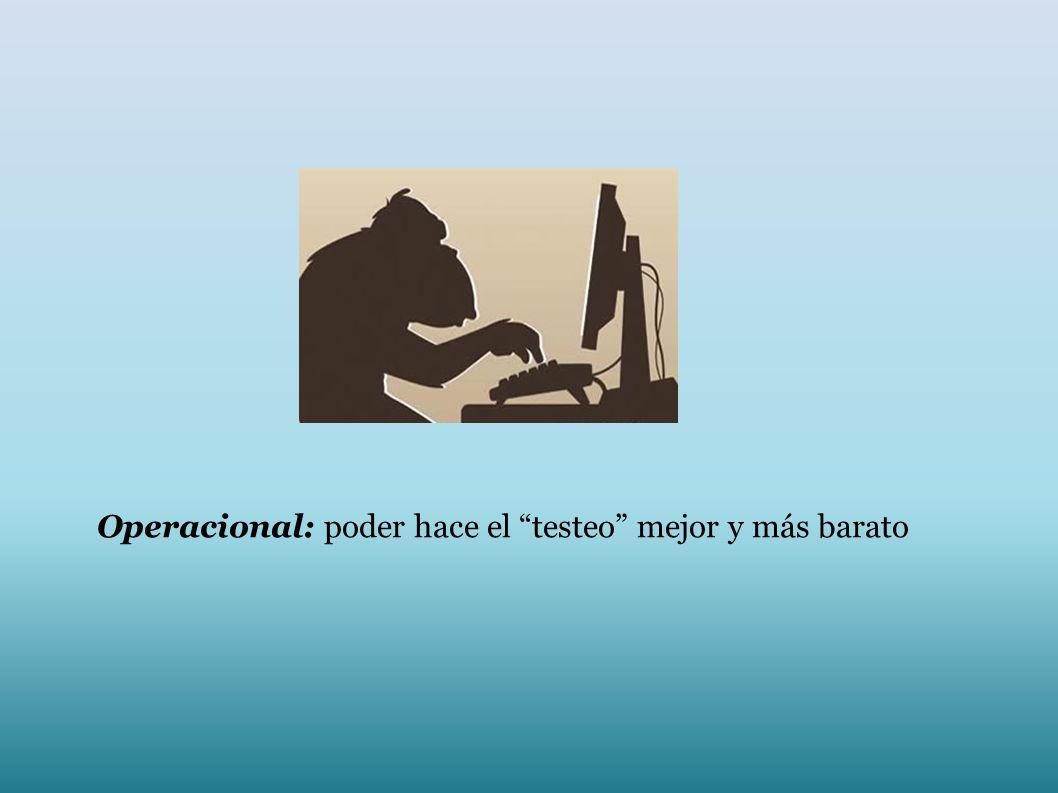 Operacional: poder hace el testeo mejor y más barato