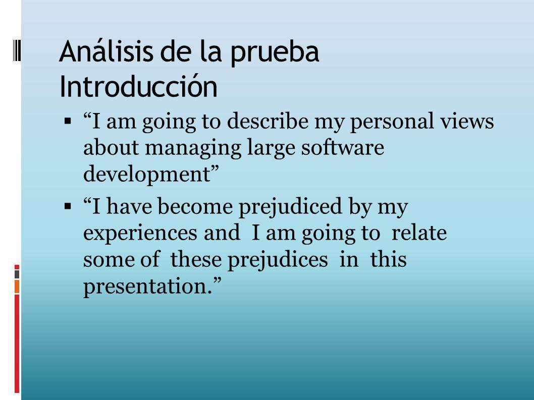 Análisis de la prueba Introducción