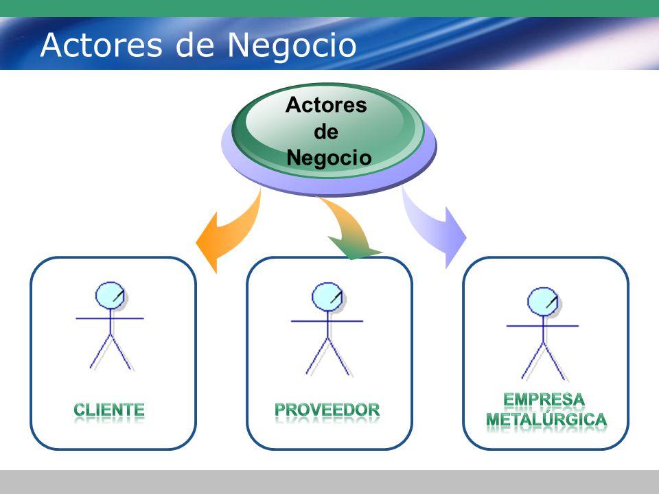 Actores de Negocio Actores de Negocio Empresa Metalúrgica Cliente