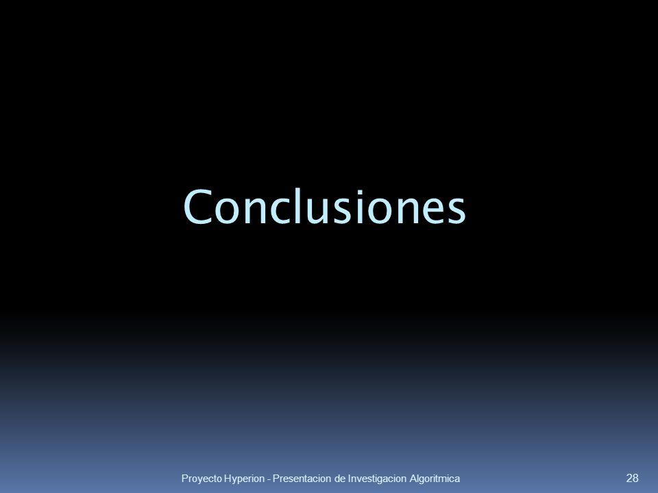 Conclusiones Proyecto Hyperion - Presentacion de Investigacion Algoritmica