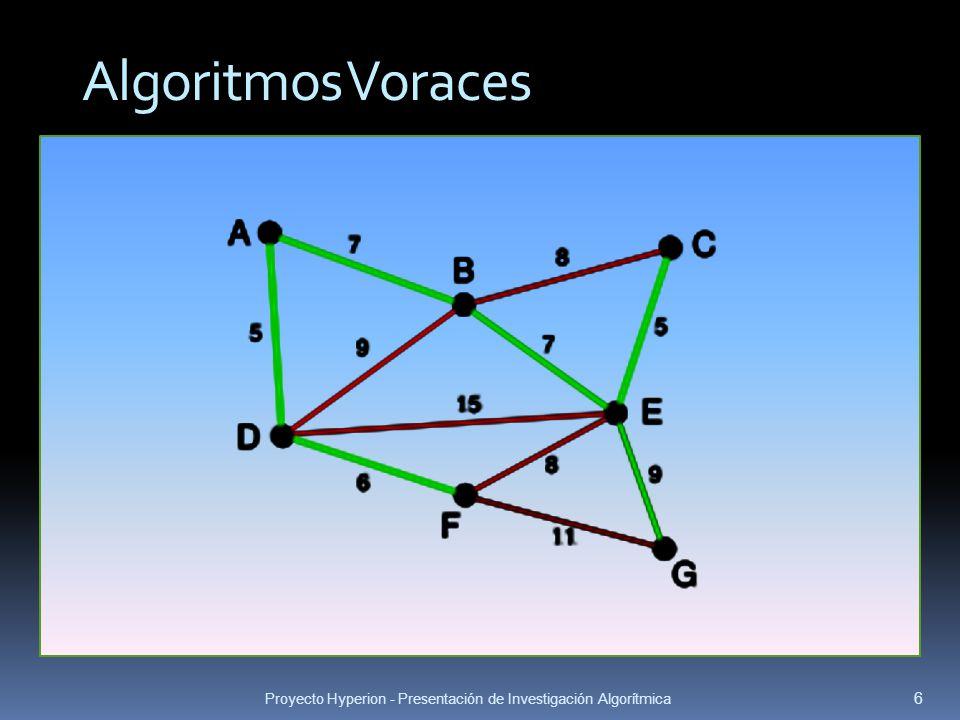 Algoritmos Voraces Proyecto Hyperion - Presentación de Investigación Algorítmica
