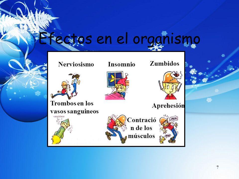 Efectos en el organismo