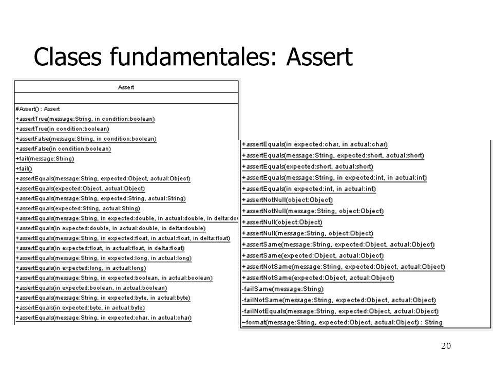Clases fundamentales: Assert