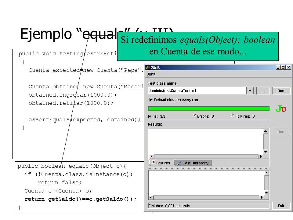 Ejemplo equals (y III)