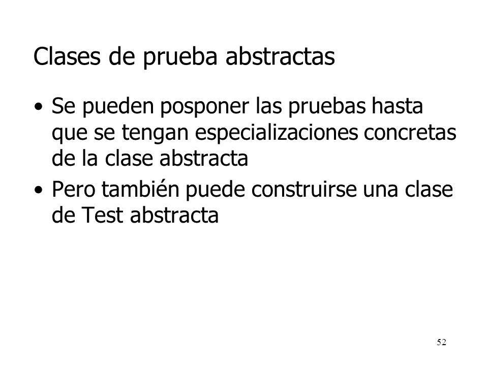 Clases de prueba abstractas
