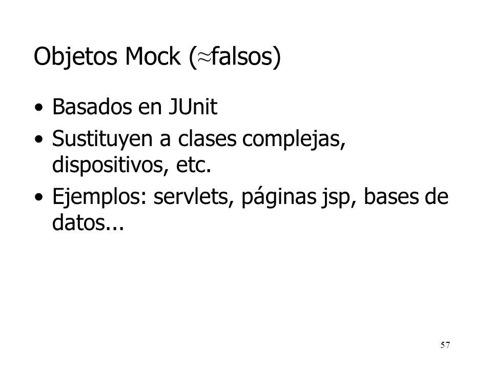 Objetos Mock (≈falsos)