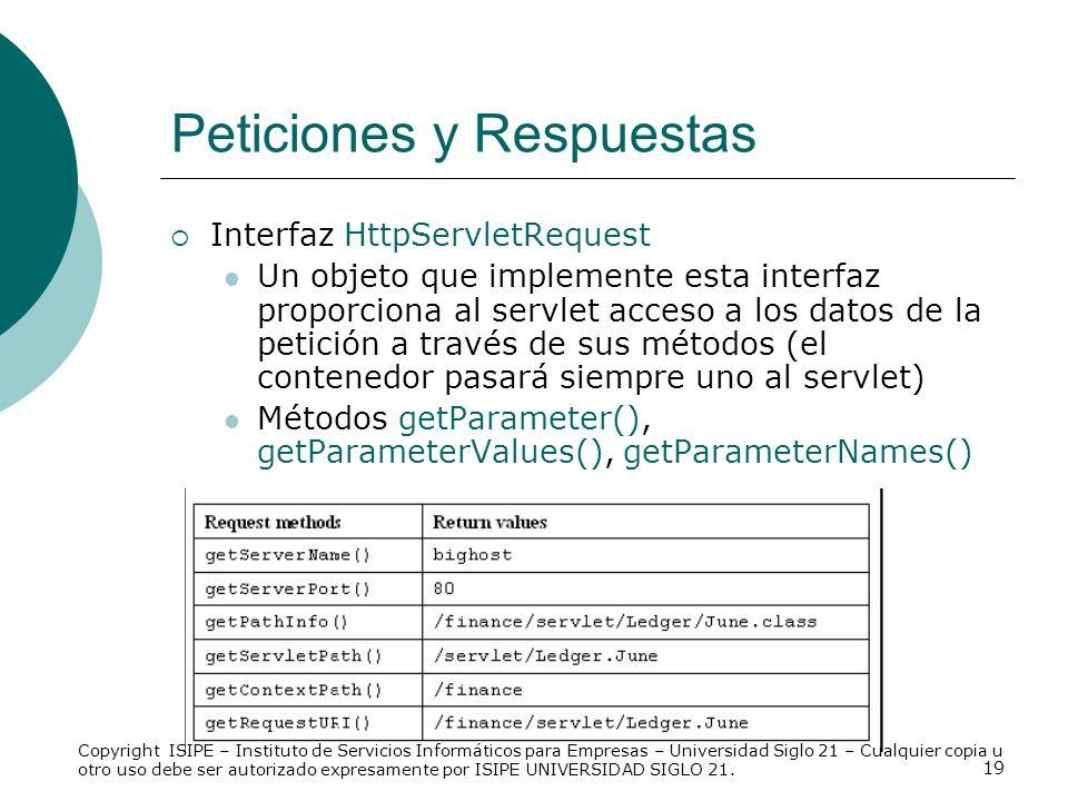 Peticiones y Respuestas