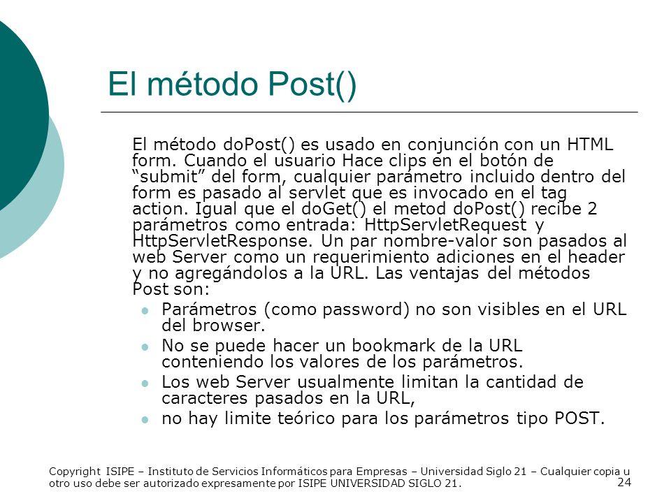 El método Post()