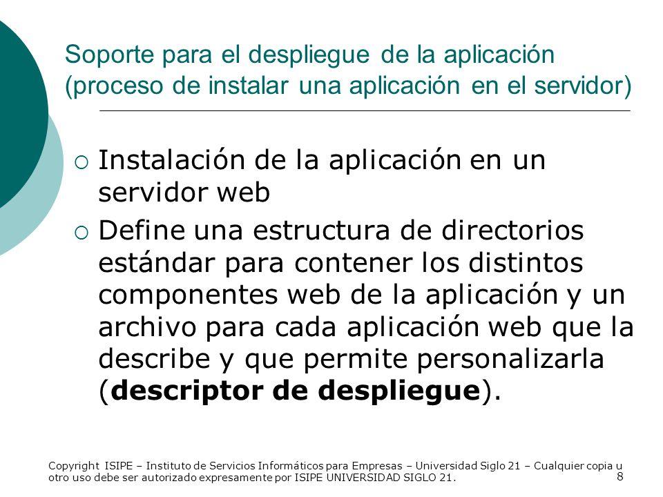 Instalación de la aplicación en un servidor web