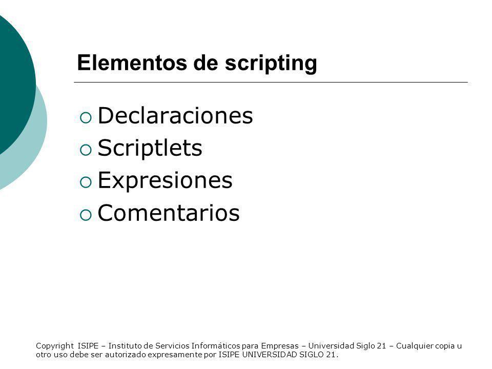 Elementos de scripting