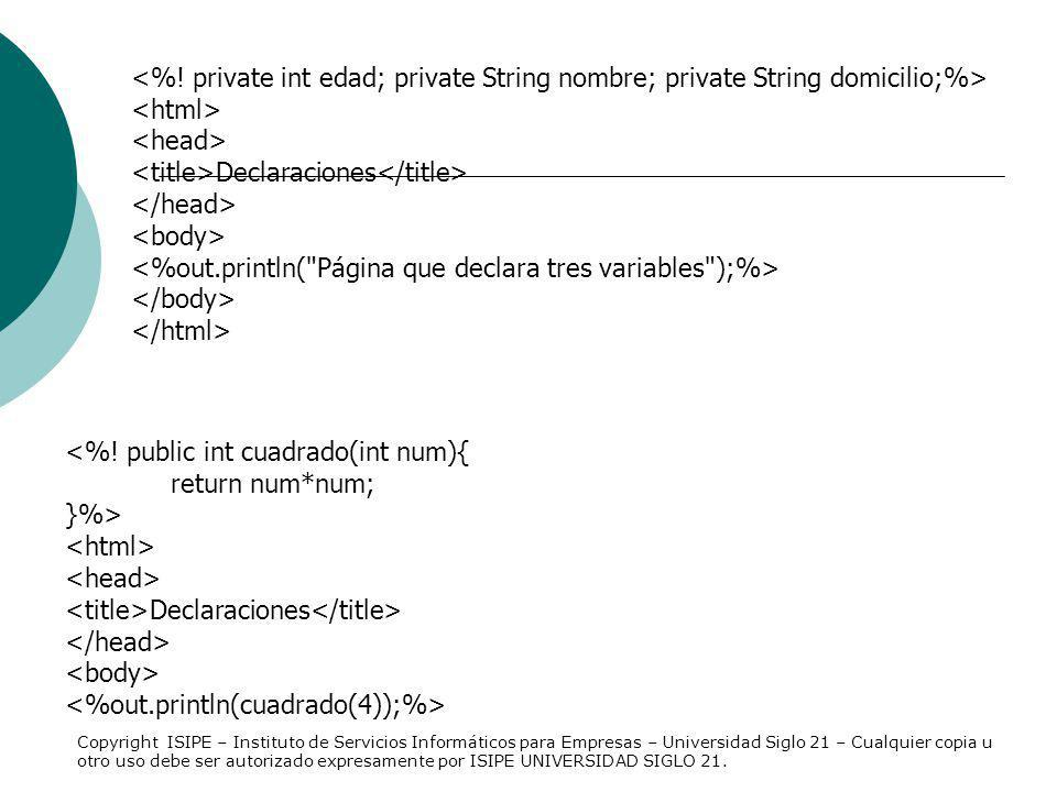 <title>Declaraciones</title> </head> <body>