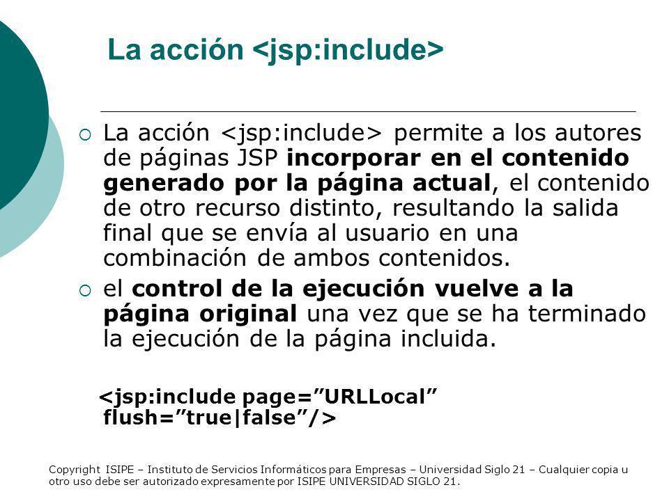 La acción <jsp:include>