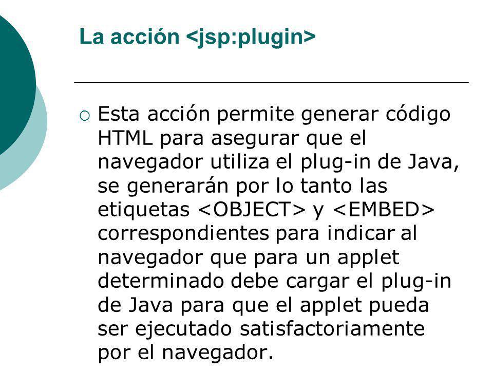 La acción <jsp:plugin>