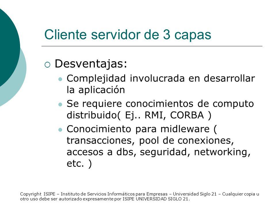 Cliente servidor de 3 capas