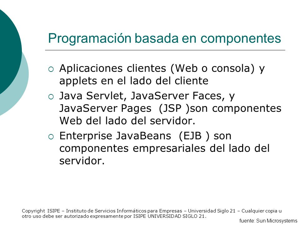 Programación basada en componentes