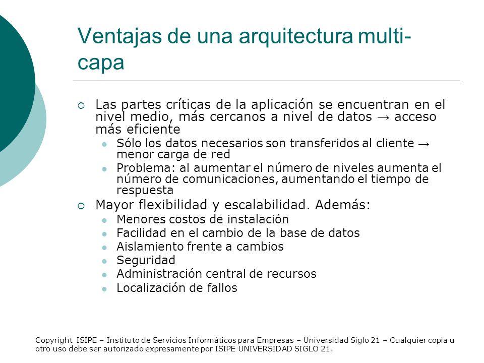 Ventajas de una arquitectura multi-capa