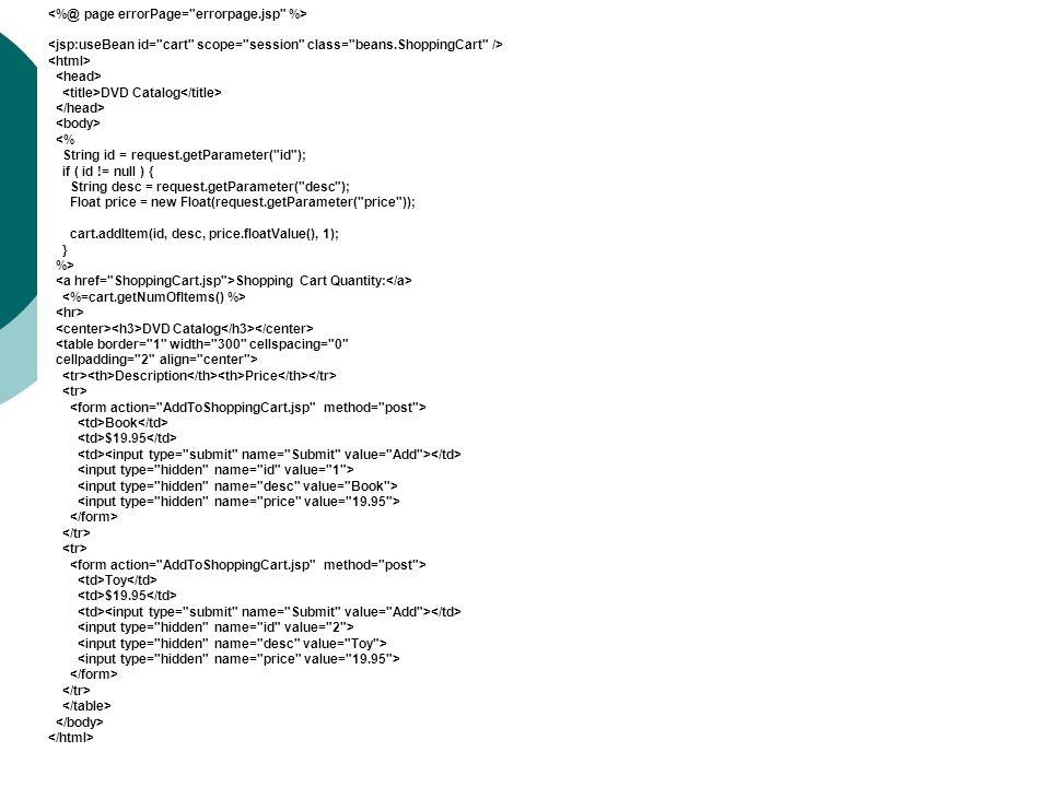 <%@ page errorPage= errorpage.jsp %>