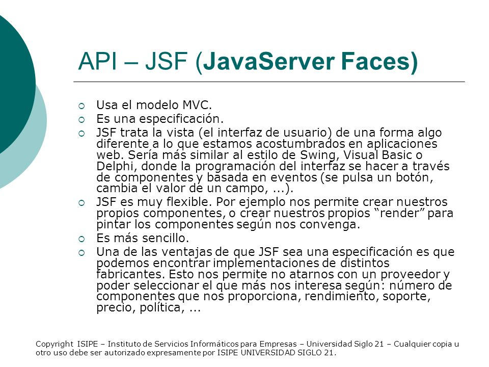API – JSF (JavaServer Faces)