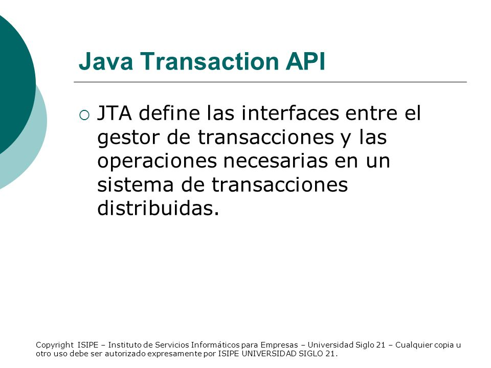 Java Transaction API