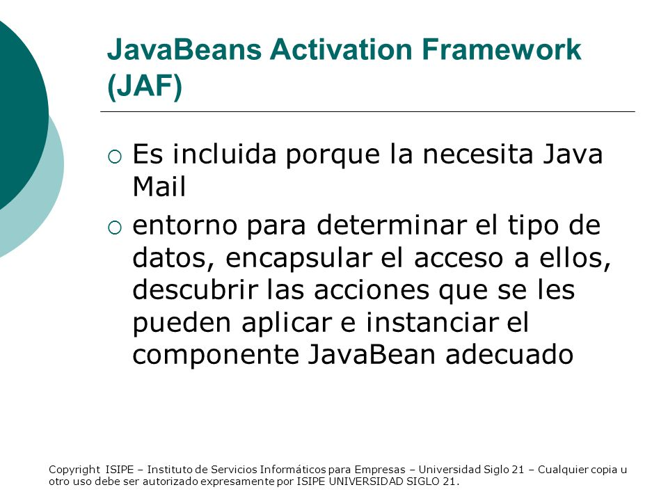 JavaBeans Activation Framework (JAF)