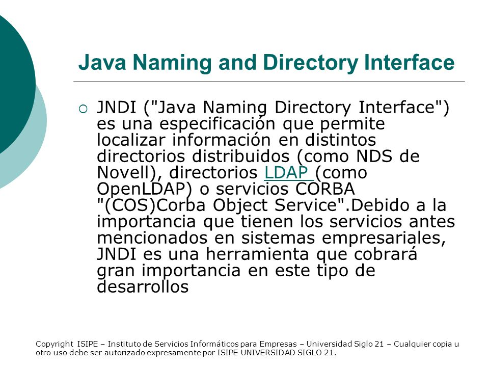 Java Naming and Directory Interface