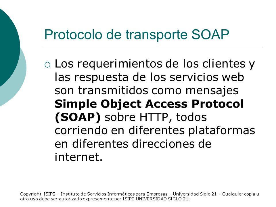 Protocolo de transporte SOAP
