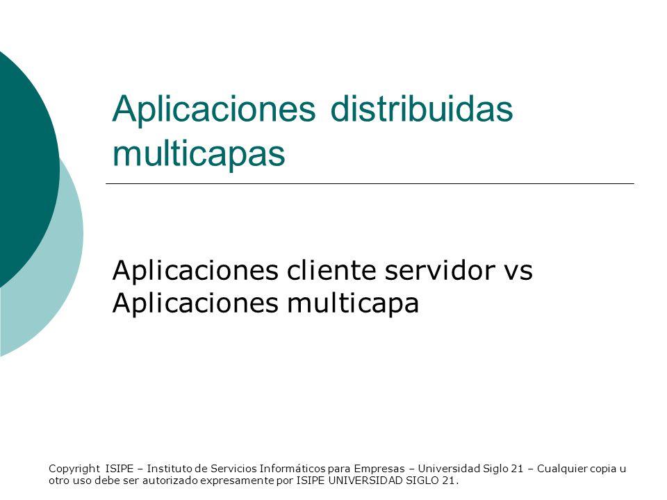 Aplicaciones distribuidas multicapas