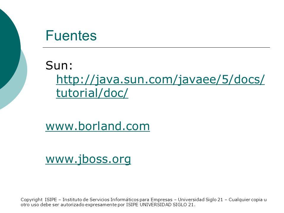 Fuentes Sun: http://java.sun.com/javaee/5/docs/tutorial/doc/