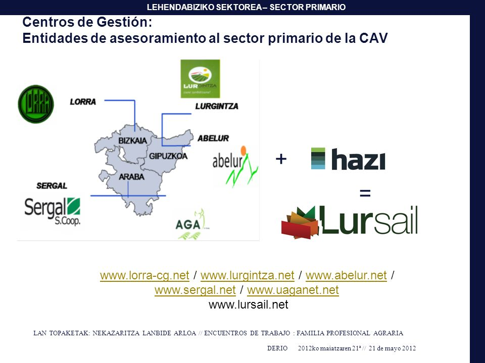 Centros de Gestión: Entidades de asesoramiento al sector primario de la CAV