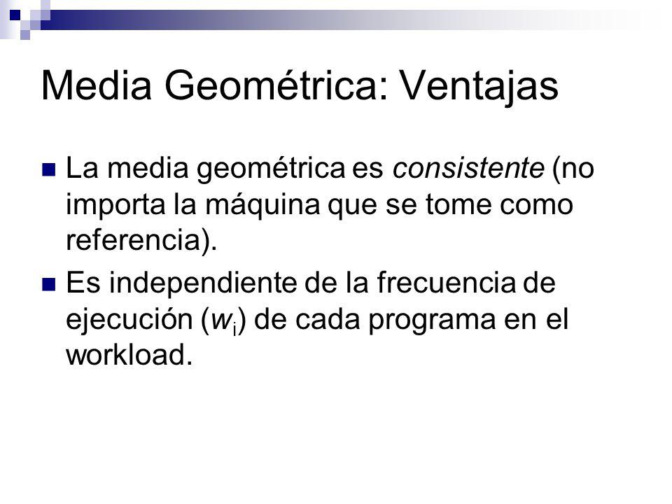 Media Geométrica: Ventajas