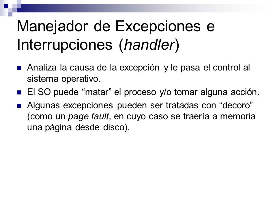 Manejador de Excepciones e Interrupciones (handler)