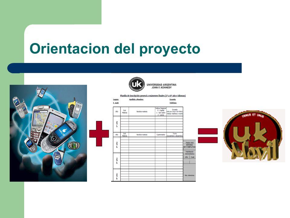 Orientacion del proyecto