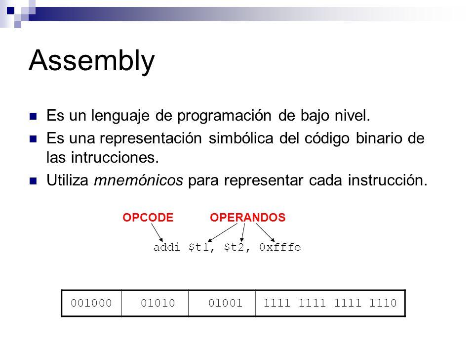Assembly Es un lenguaje de programación de bajo nivel.
