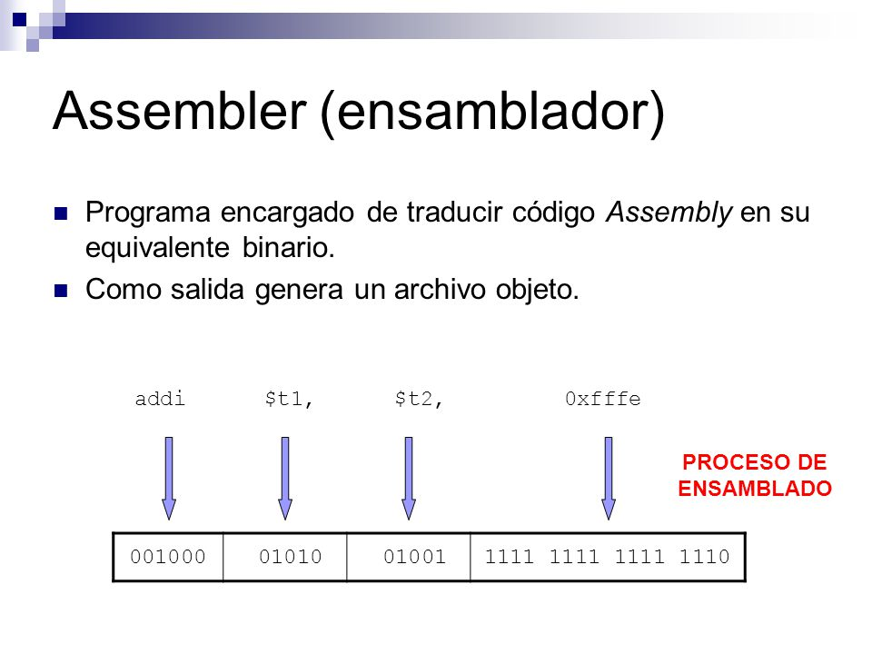Assembler (ensamblador)