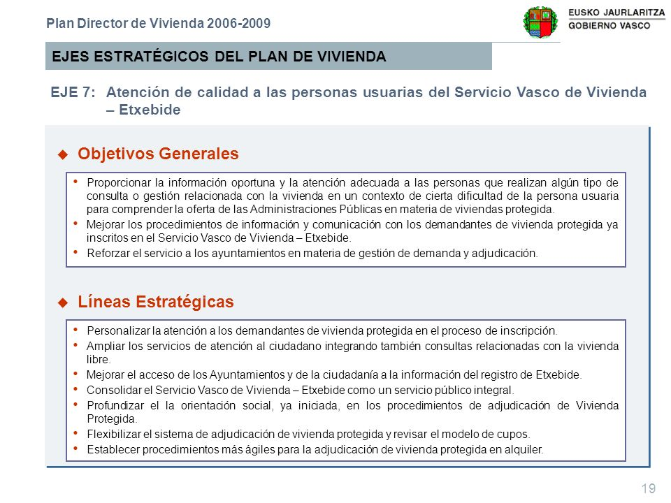 Objetivos Generales Líneas Estratégicas