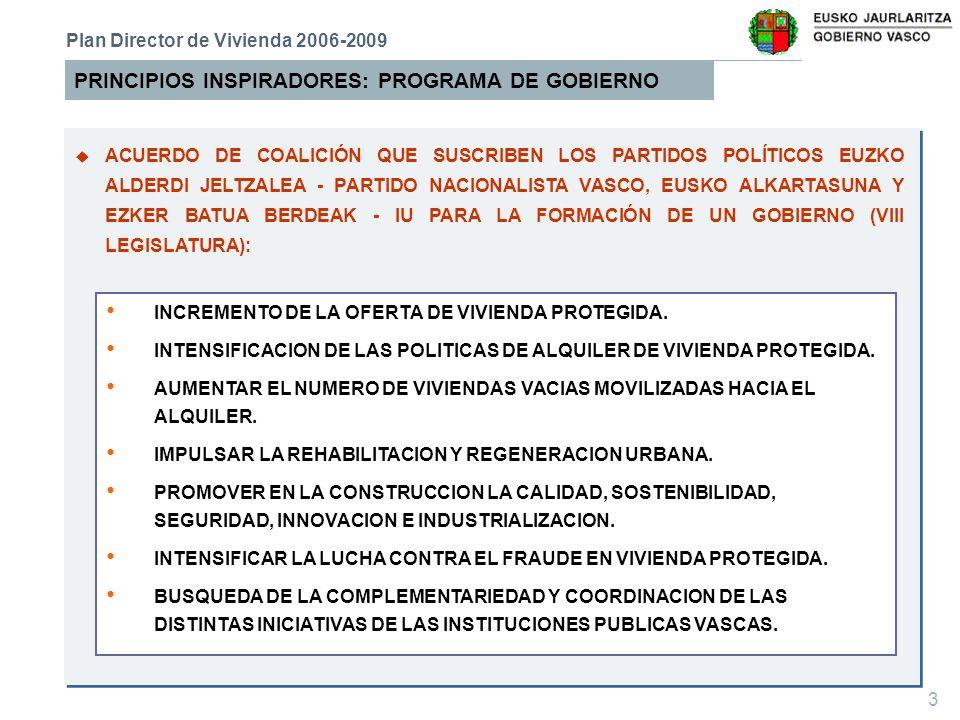 PRINCIPIOS INSPIRADORES: PROGRAMA DE GOBIERNO