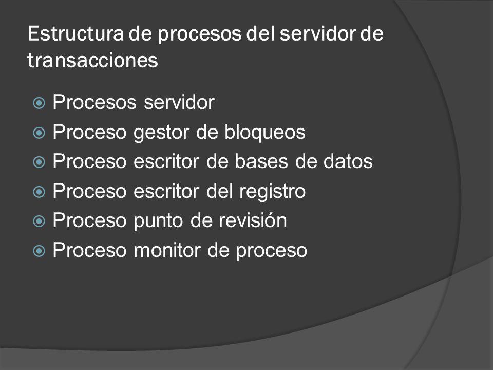 Estructura de procesos del servidor de transacciones